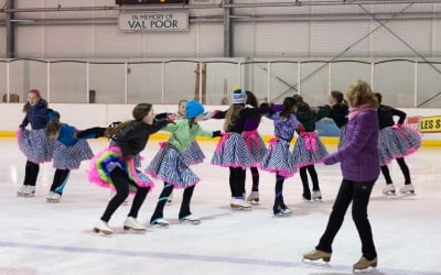 Youth Synchro Preps for The Fur Rondy Invitational